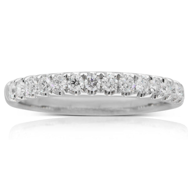 18ct White Gold .42ct Diamond Band - Walker & Hall