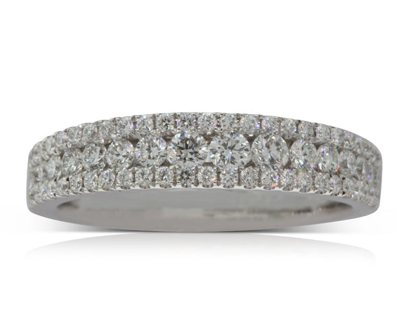 18ct White Gold .71ct Diamond Ring - Walker & Hall