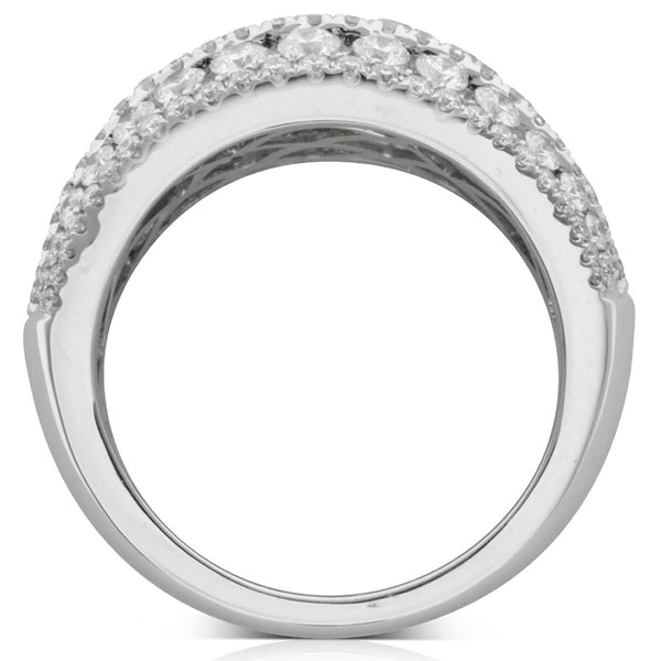 18ct White Gold 2.04ct Diamond Dress Ring - Walker & Hall