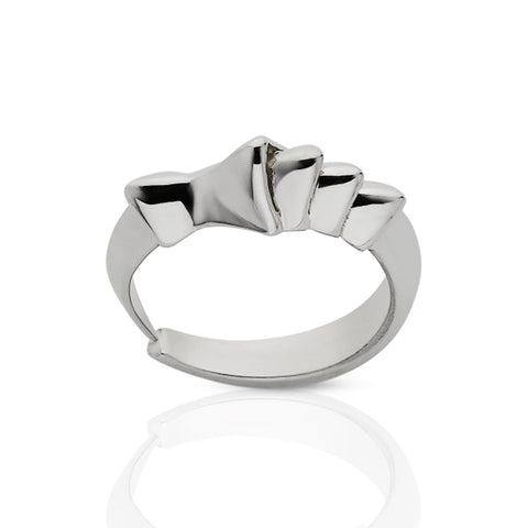 Meadowlark Small Devils Claw Ring - Sterling Silver - Walker & Hall