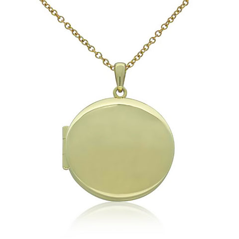 9ct Yellow Gold Round Locket - Walker & Hall
