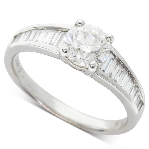 18ct White Gold 1.42ct Diamond Ring - Walker & Hall