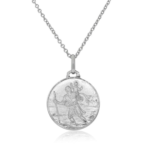 Sterling Silver Saint Christopher Pendant - Walker & Hall