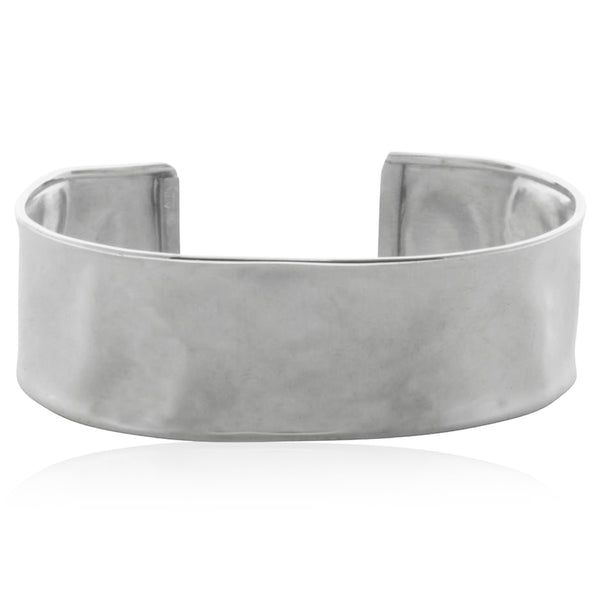 Sterling Silver Hammered Cuff - Walker & Hall