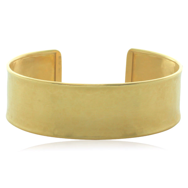 18ct Yellow Gold Hammered Cuff - Walker & Hall