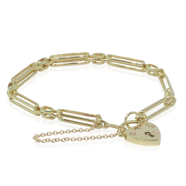 9ct Yellow Gold Two Bar Gate Bracelet - Walker & Hall
