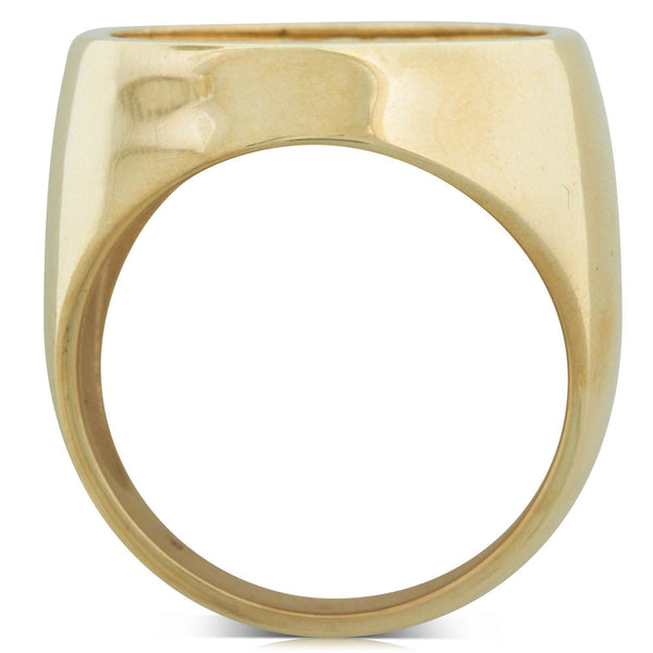 9ct Yellow Gold Half Sovereign Ring - Walker & Hall