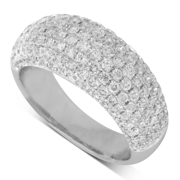18ct White Gold 1.89ct Diamond Ring - Walker & Hall