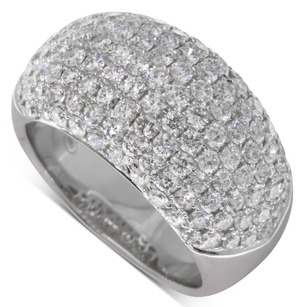 18ct White Gold 2.61ct Diamond Ring - Walker & Hall