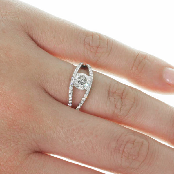 Platinum 1.15ct Round Brilliant Cut Diamond Ring - Walker & Hall