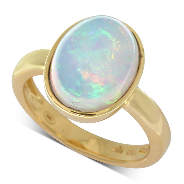 18ct Yellow Gold 4.48ct Opal Ring - Walker & Hall