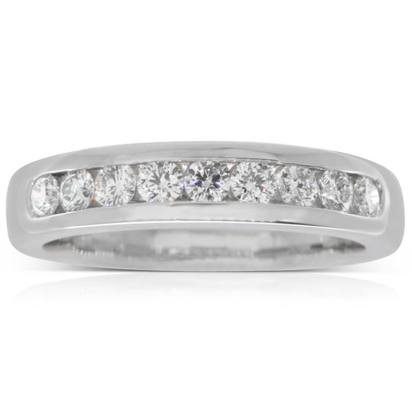 18ct White Gold .52ct Diamond Band - Walker & Hall