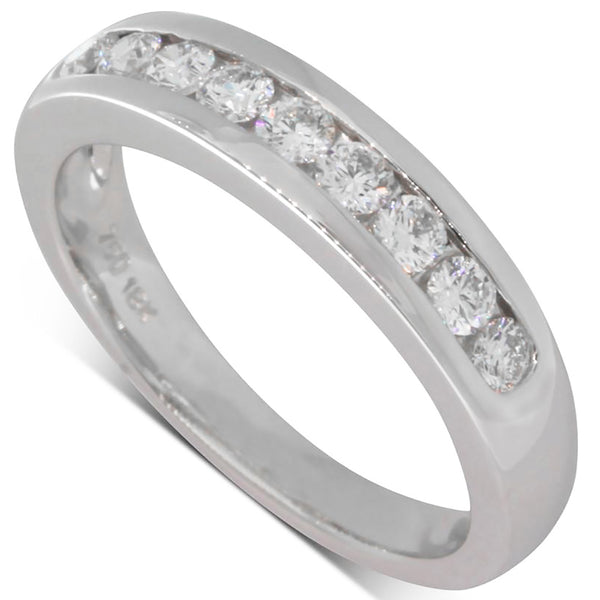 18ct White Gold Diamond Band - Walker & Hall