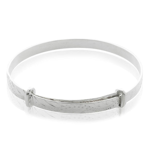 Sterling Silver Baby Bangle - Walker & Hall