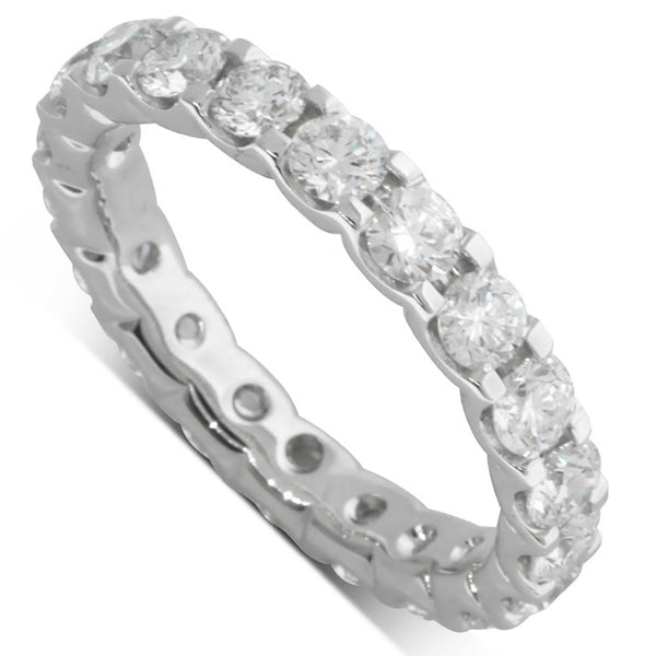 18ct White Gold Diamond Eternity Ring - Walker & Hall
