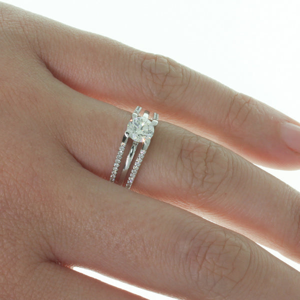 18ct White Gold .83ct Diamond Ring - Walker & Hall