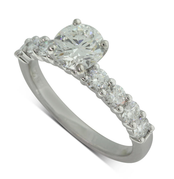 18ct White Gold 1.01ct Diamond Ring - Walker & Hall