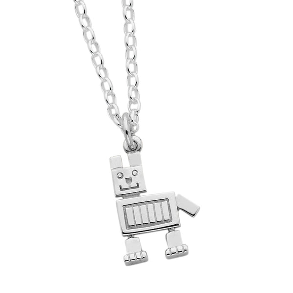 Karen Walker Robot Dog Necklace - Sterling Silver - Walker & Hall