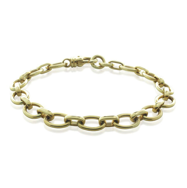 9ct Yellow Gold Oval Cable Bracelet - Walker & Hall