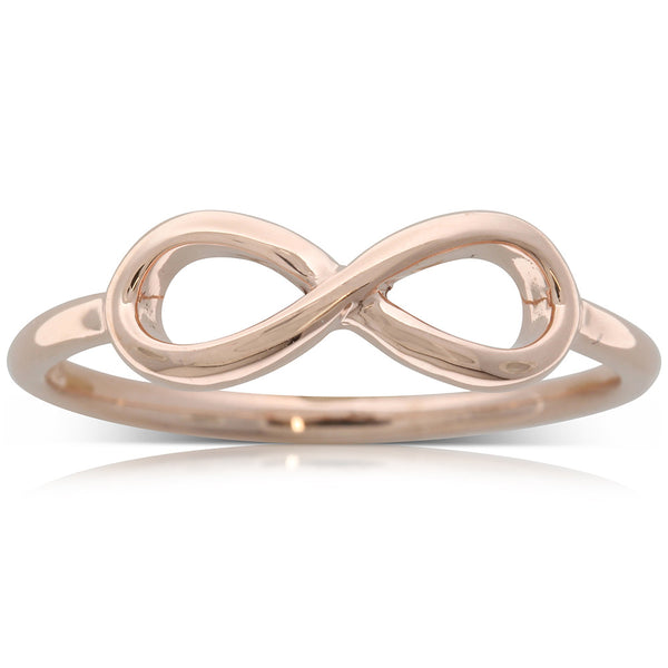 9ct Rose Gold Infinity Ring - Walker & Hall
