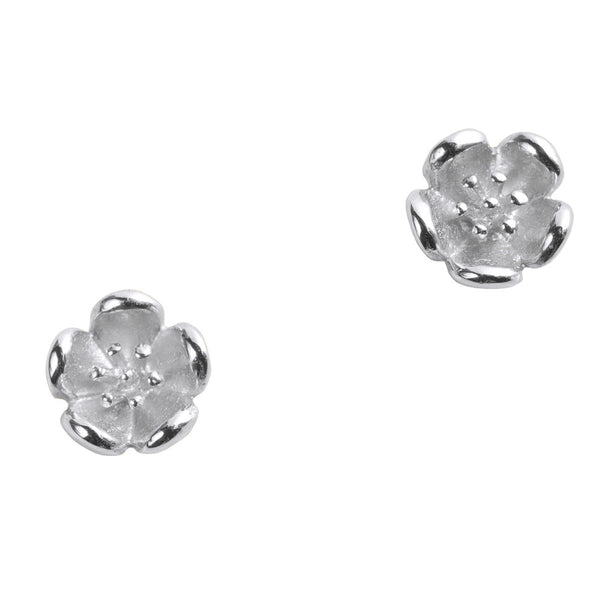 Karen Walker Mini Flower Studs - Sterling Silver - Walker & Hall