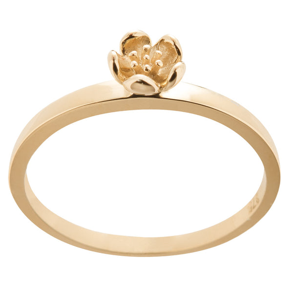Karen Walker Mini Flower Ring - 9ct Yellow Gold