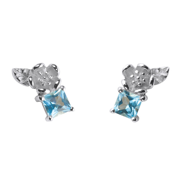 Karen Walker Rock Garden Blue Topaz Studs - Sterling Silver - Walker & Hall