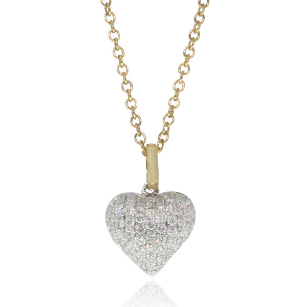 18ct Yellow Gold .46ct Diamond Heart Pendant