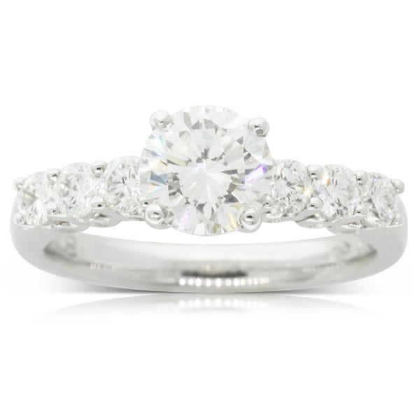 18ct White Gold 1.59ct Diamond Ring - Walker & Hall