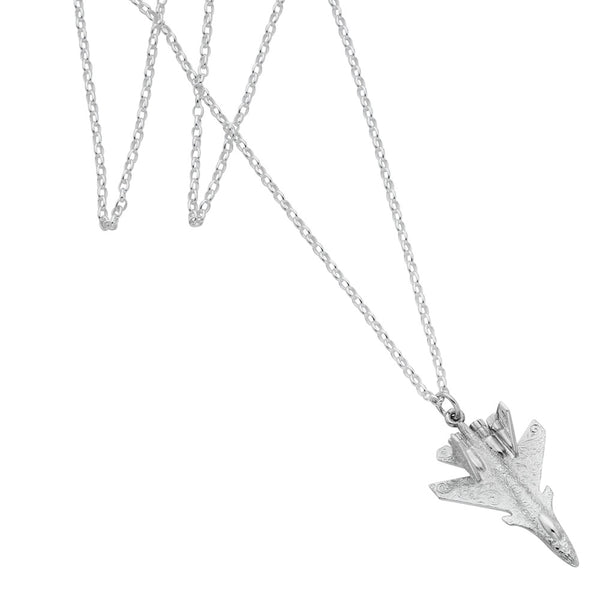 Karen Walker Camouflage Plane Necklace - Sterling Silver
