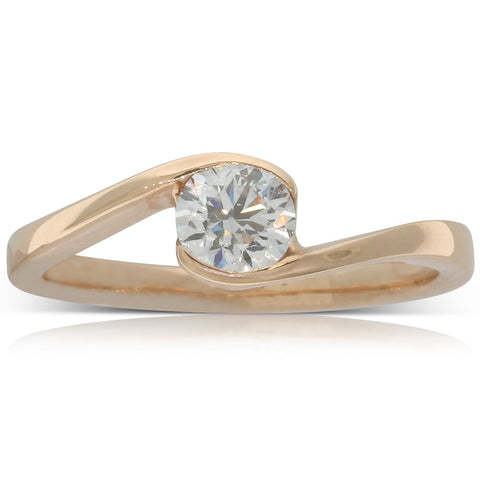 18ct Rose Gold .54ct Diamond Embrace Ring - Walker & Hall