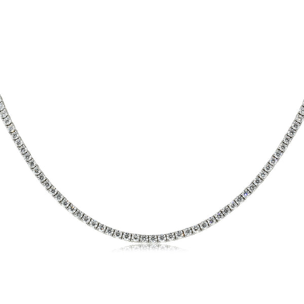 18ct White Gold 8.25ct Diamond Necklace - Walker & Hall