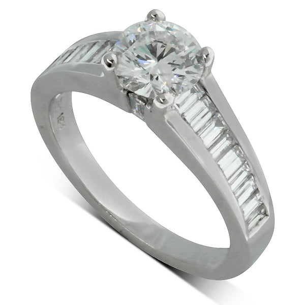 18ct White Gold 1.02ct Diamond Ring - Walker & Hall
