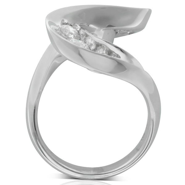 18ct White Gold Diamond Dress Ring - Walker & Hall