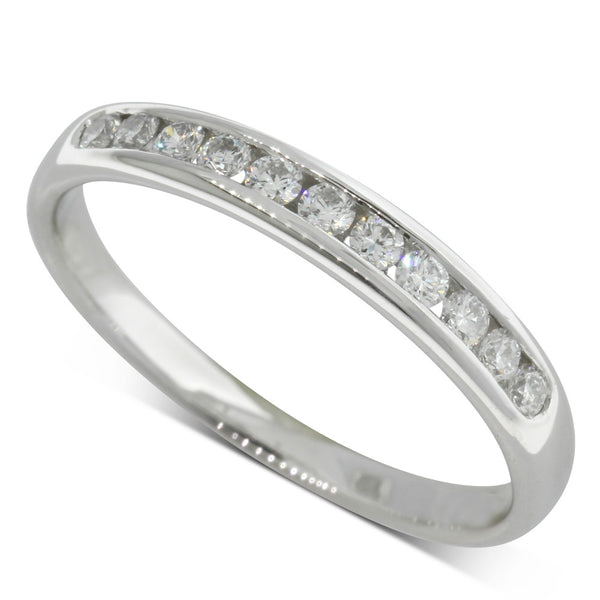 Platinum .25ct Channel Set Diamond Ring - Walker & Hall