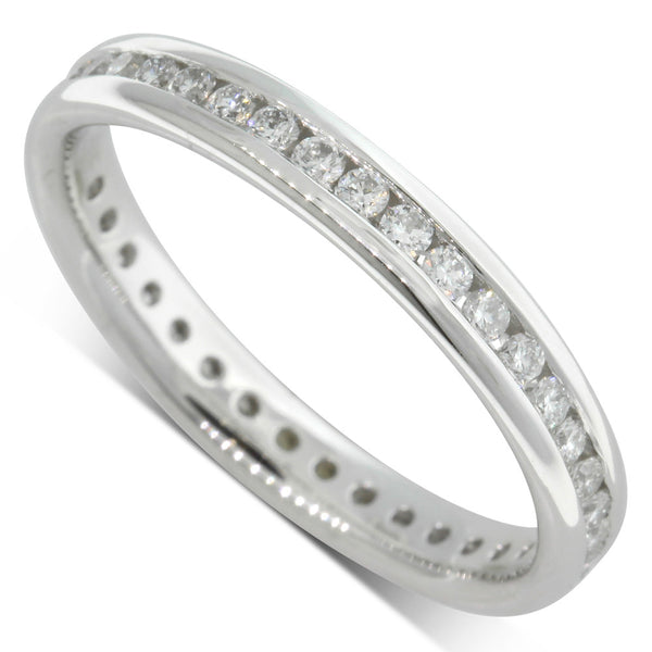 Platinum .50ct Diamond Eternity Ring - Walker & Hall