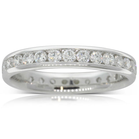 Platinum 1.00ct Diamond Band - Walker & Hall