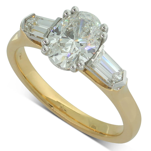 18ct Yellow And 18ct White Gold Diamond Ring - Walker & Hall