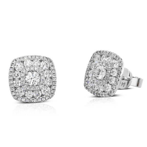 18ct White Gold 1.48ct Diamond Studs - Walker & Hall