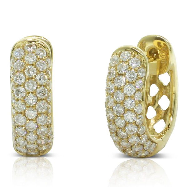 18ct Yellow Gold .78ct Diamond Hoop Earrings - Walker & Hall