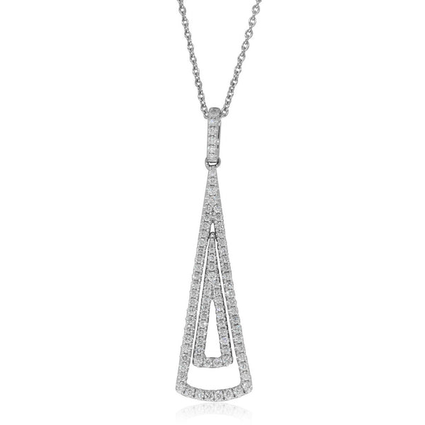 18ct White Gold .48ct Diamond Pendant - Walker & Hall