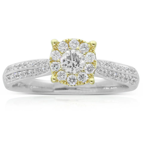 18ct White & Yellow Gold .54ct Diamond Galaxy Ring - Walker & Hall