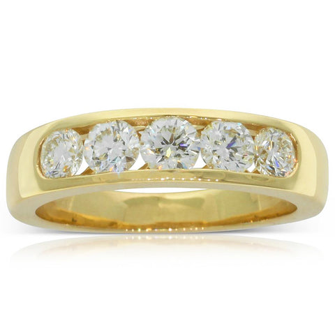 18ct Yellow Gold .92ct Diamond Loire Ring - Walker & Hall