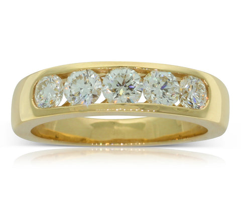 18ct Yellow Gold 1.00ct Diamond Loire Ring - Walker & Hall
