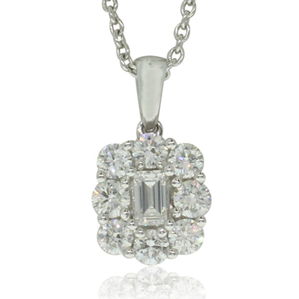 18ct White Gold .65ct Diamond Pendant - Walker & Hall