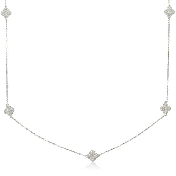 18ct White Gold 1.24ct Diamond Necklace - Walker & Hall