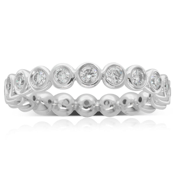 18ct White Gold Diamond Eternity Band - Walker & Hall