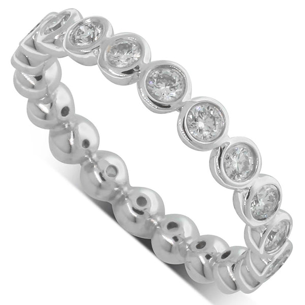 18ct White Gold .82ct Diamond Eternity Band - Walker & Hall