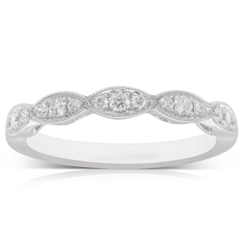 18ct White Gold .24ct Diamond Band - Walker & Hall