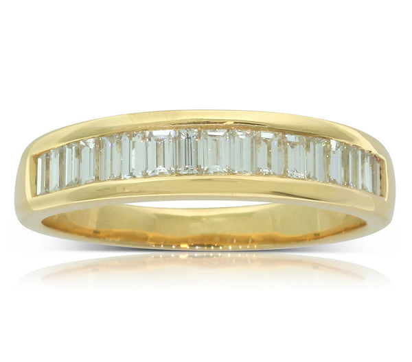 18ct Yellow Gold Baguette Diamond Ring - Walker & Hall